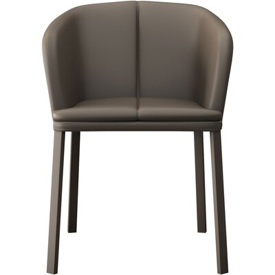 Como Genuine Leather Upholstered Dining Chair Finish: Dove Gray