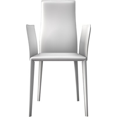 Lucca Genuine Leather Upholstered Dining Chair Finish: Reclaimed White