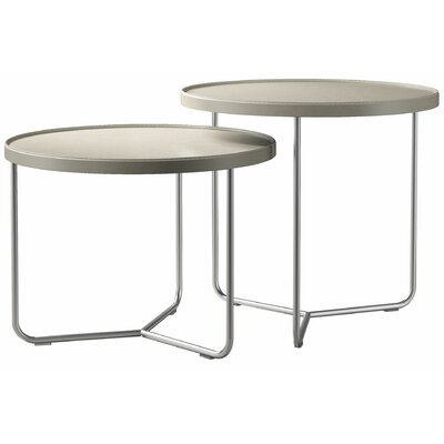 Adelphi 2 Piece Nesting Table Set Color: Beige