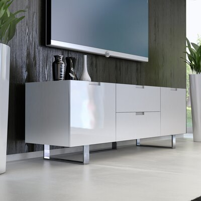 Eldridge 61 TV Stand Color: White Lacquer