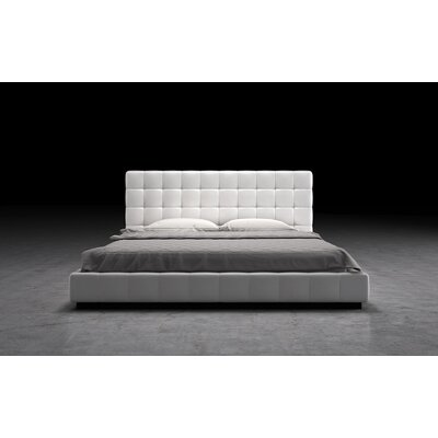 Thompson Upholstered Platform Bed Size: Full, Finish: White