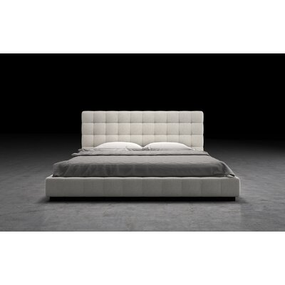 Thompson Upholstered Platform Bed Size: Queen, Finish: Moonbeam