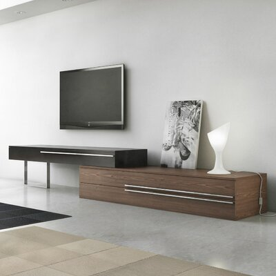 Gramercy 86-130 TV Stand Color: Walnut / Black Lacquer