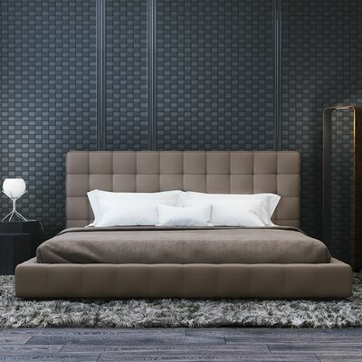 Thompson Upholstered Platform Bed Size: California King, Finish: Castle Gray