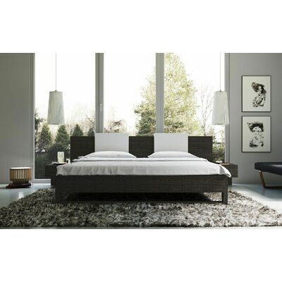 Monroe Upholstered Platform Bed Size: King, Finish: Gray
