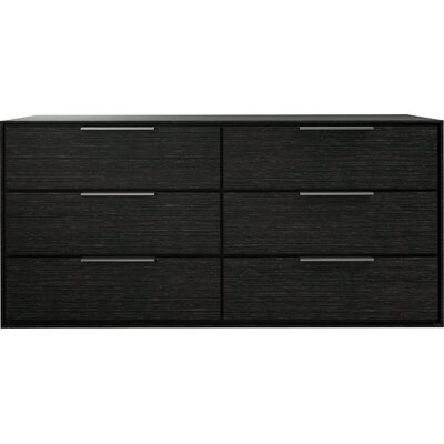 Thompson 6 Drawer Double Dresser Color: Gray