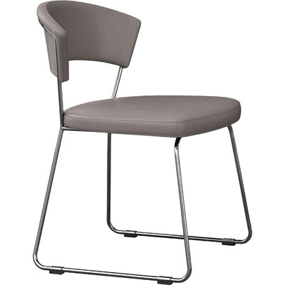 Delancy Side Chair (Set of 2) Side Chair Upholstery: Silver Gray