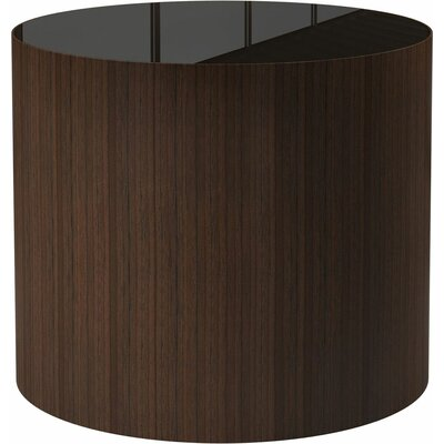 Berkeley End Table Finish: Brown Glass on Rovere Grigio