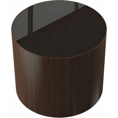 Berkeley End Table Color: Brown Glass on Rovere Grigio