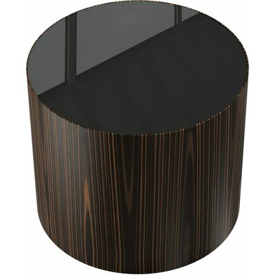Berkeley End Table Color: Cathedral Oak/Black