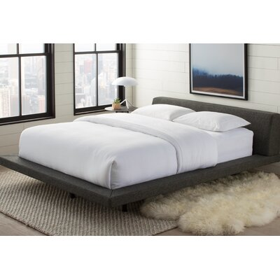 Jane Upholstered Platform Bed Color: Slate, Size: King