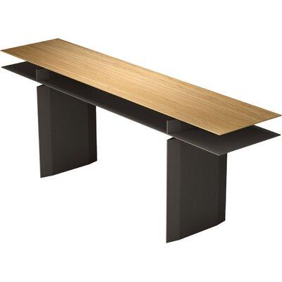 Kensington Console Table Finish: Natural Oak / Bronze