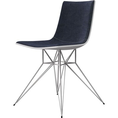 Audley Side Chair Upholstery: Blue