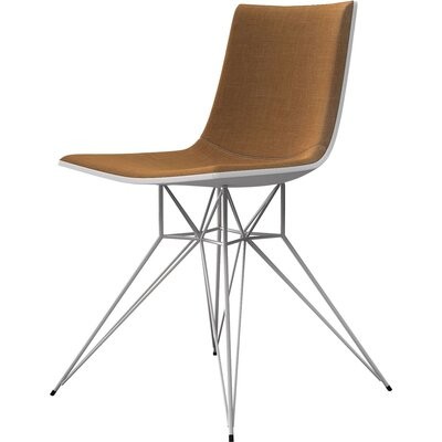 Audley Side Chair Upholstery: Amber Gold