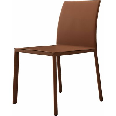 Sanctuary Genuine Leather Upholstered Dining Chair Finish: Whisky