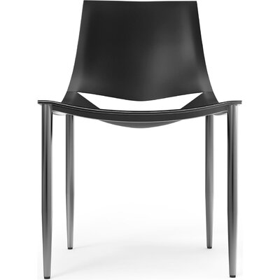Sloane Genuine Leather Upholstered Dining Chair Frame Color: Black