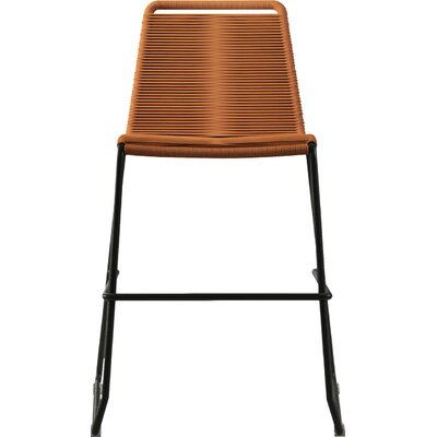 Barclay 26 Patio Bar Stool Color: Orange