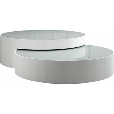 Berkeley 2 Piece Coffee Table Set Color: White