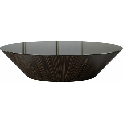 Coffee Table Finish: Black Glass/Cathedral Ebony