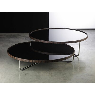 Adelphi 2 Piece Coffee Table Set Top Color: Black Lacquer