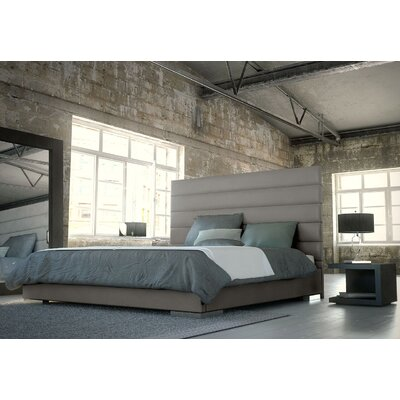 Prince Upholstered Platform Bed Size: King, Finish: Castle Gray