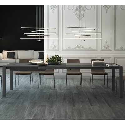 Napoli Dining Table Finish: Anthracite Glass / Anthracite