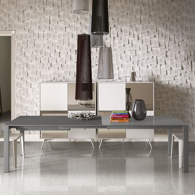 Napoli Dining Table Finish: Ashen Gray Glass / Ashen Gray