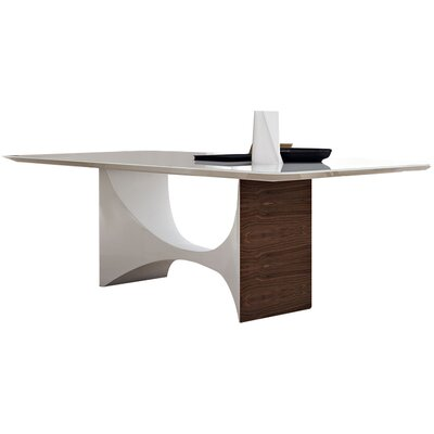 Camden Dining Table Finish: White Glass / White Lacquer