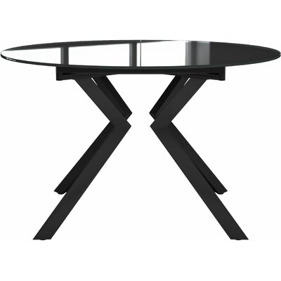 Siena Dining Table Finish: Anthracite Glass / Anthracite
