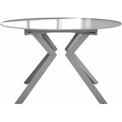 Siena Dining Table Finish: White Glass / White Matte