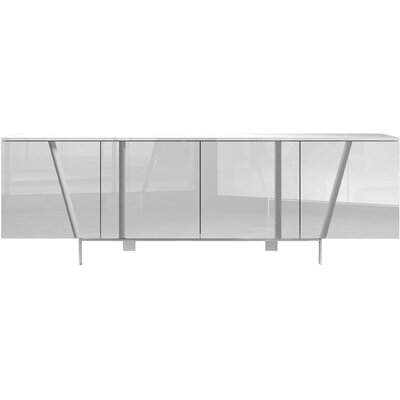 Mott Sideboard Color: White Lacquer