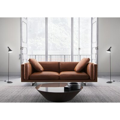 Fulton Top Grain Leather Sofa Upholstery: Lion