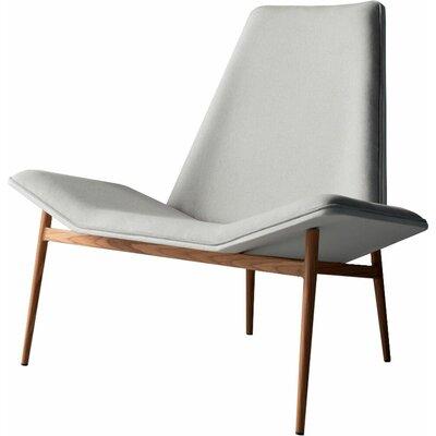 Kent Lounge Chair Upholstery: Raw Linen / White over Teak