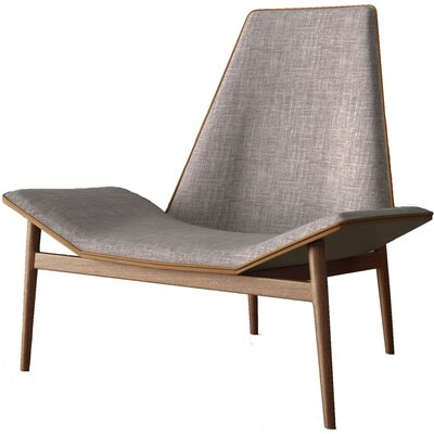 Kent Lounge Chair Upholstery: Gray Denim / Caramel over Dark Teak