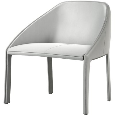 Sidney Barrel Chair Color: White