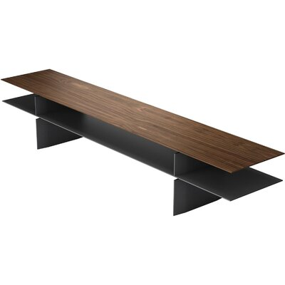 Kensington Console Table Finish: Walnut / Graphite