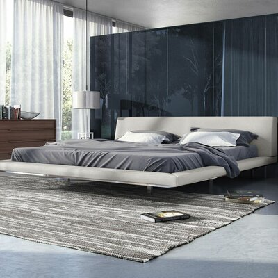 Jane Upholstered Platform Bed Color: Moon Beam, Size: King