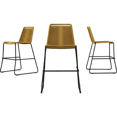 Barclay 26 Patio Bar Stool Color: Curry Yellow