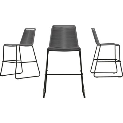 Barclay 26 Patio Bar Stool Color: Light Gray