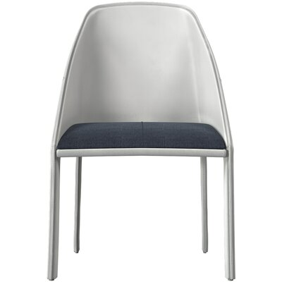 Sidney Upholstered Dining Chair Color: Blue Denim/Alpine