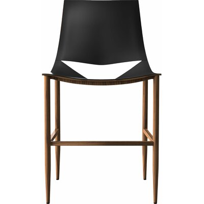 Sloane Bar Stool Color: Black/Teak