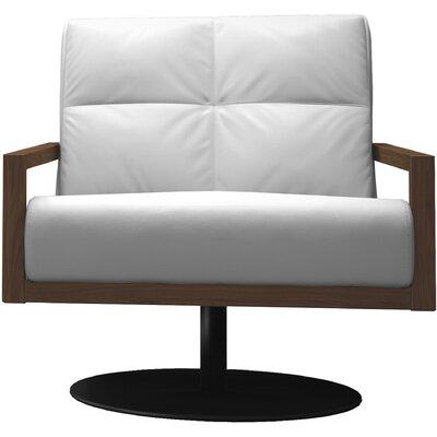 Clarkson Swivel Lounge Chair Finish: Soft Snow/Walnut