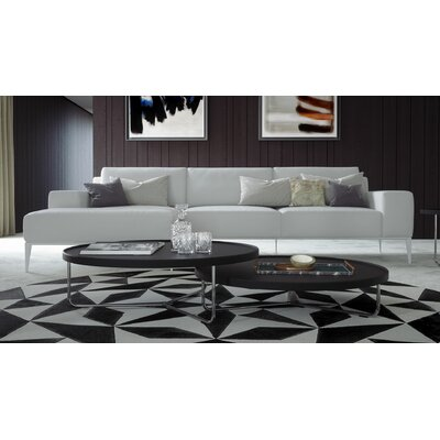 Elizabeth Leather Sectional Upholstery: Soft Snow, Orientation: Left Hand Facing