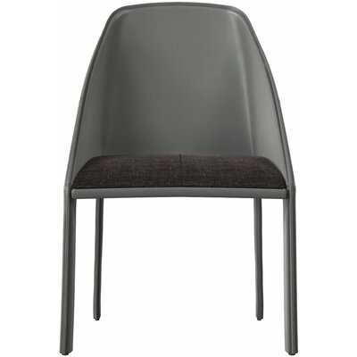Sidney Upholstered Dining Chair Color: Graphite/Gray