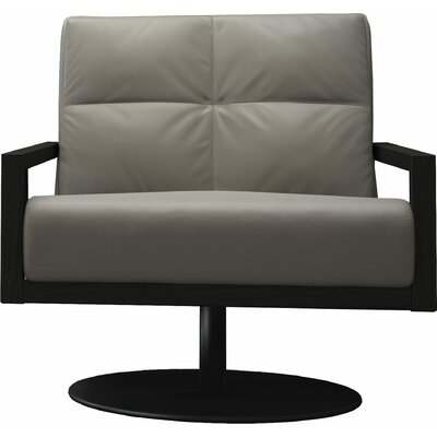 Clarkson Swivel Lounge Chair Finish: Opala/Black Oak