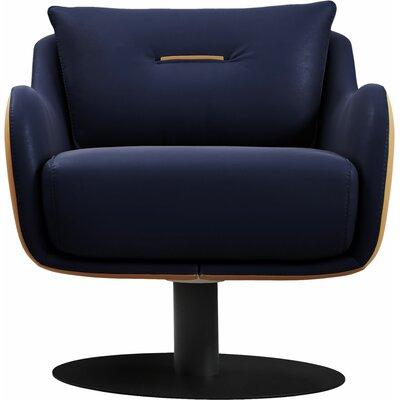 Platt Swivel Lounge Chair Finish: Navy/Tan