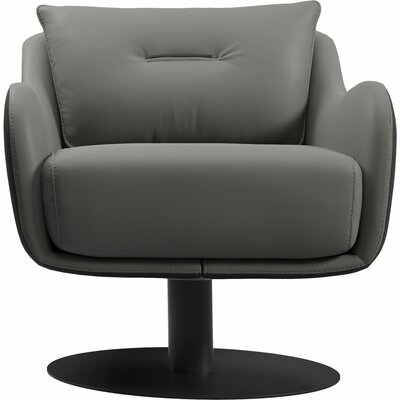 Platt Swivel Lounge Chair Finish: Warm Gray/Graphite