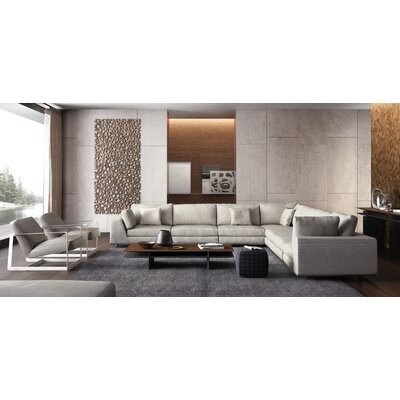 Perry Sectional Upholstery: Moonbeam