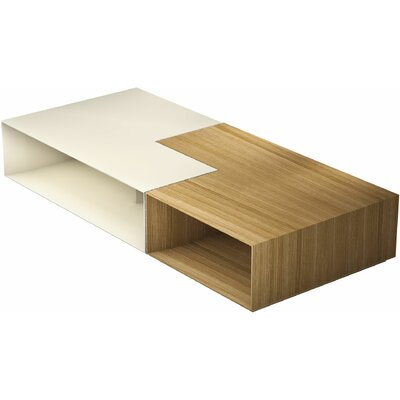 Putney Jigsaw Coffee Table Color: Natural Oak / Matte Beige