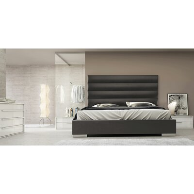 Prince Upholstered Platform Bed Color: Eiffel Tower, Size: California King